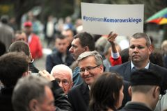 Bronislaw Komorowski prezydencka kampania Obraz Stock
