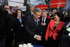 Bronislaw Komorowski prezydencka kampania Obrazy Royalty Free