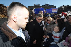 Bronislaw Komorowski prezydent Polnad Fotografia Stock