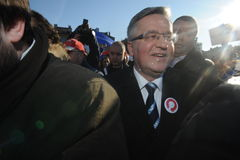 Bronislaw Komorowski prezydent Polnad Obrazy Royalty Free