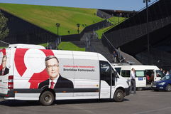 Bronislaw Komorowski's campain in Katowice Stock Images