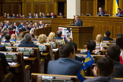 Bronislaw Komorowski in the Verkhovna Rada of Ukraine Royalty Free Stock Photos