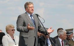 bronislawkomorowskipoland president Royaltyfri Foto