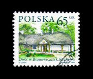 Bronowice,波兰国家庄园serie,大约1998年 免版税库存照片