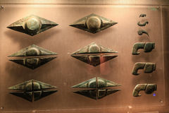 Brons artikeln i sanxingduimuseet, sichuan, porslin royaltyfri fotografi