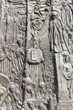 Brons dörren, domkyrkabasilikan av det heliga korset, Opole, Polen royaltyfri bild