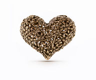 Brons decoratief hart Royalty-vrije Stock Afbeeldingen