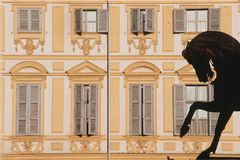 Brons do ` de Cavald em Turin imagens de stock