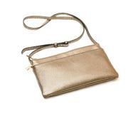 Brons kleine handtas stock afbeelding