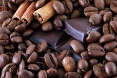 Brons-koffie korrel Stock Afbeelding
