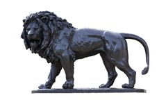 Brons Lion Statue Stock Foto