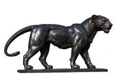 Brons Lion Statue Arkivfoto