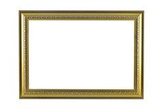 Brons och guld- ram som isoleras på vit bakgrund Fotografering för Bildbyråer