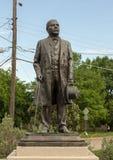 Brons statyn av Benito Juarez i Benito Juarez Parque de Heroes, en Dallas City Park i Dallas, Texas arkivfoto