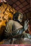 Brons statyn av den stora Buddha, Daibutsu av den Todai-ji templet Royaltyfri Fotografi