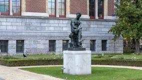 Brons statyn av Mercury, Rijksmuseum, Amsterdam, Nederländerna royaltyfri fotografi