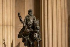 Brons statyn från museet av den Altare dellaen Patria, Rome, Italien arkivfoton