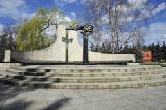 Brons statyn, kristen materinity på minnesmärken i hedern av segern i det andra världskriget royaltyfria bilder