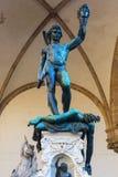Bronsbeeldhouwwerk van Perseus in Florence, Italië royalty-vrije stock fotografie