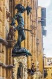 Bronsbeeldhouwwerk van Perseus in Florence, Italië royalty-vrije stock foto's