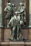 Bronselement van het standbeeld in het centrum van Wenen, in Ho Royalty-vrije Stock Afbeeldingen
