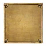 Bronsetikett royaltyfri bild