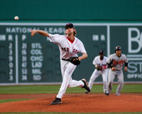 Bronson Arroyo, les Red Sox de Boston Photographie stock