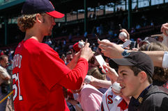 Bronson Arroyo signs autographs Royalty Free Stock Image