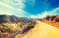 Bronson canyon in Los Angeles Royalty Free Stock Images