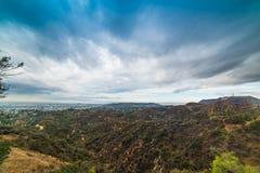 Bronson jar z światowym sławnym Hollywood znakiem na backgroun obraz stock