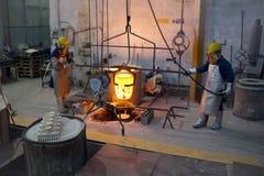 Bronsrollbesättning Royaltyfria Foton