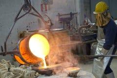 Bronsrollbesättning Arkivfoton