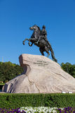 Bronsskicklig ryttare i St Petersburg Royaltyfri Fotografi