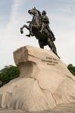Bronsskicklig ryttare Peter det stort i Ryssland royaltyfri foto