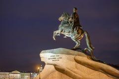 Bronsskickliga ryttaren, St Petersburg Arkivbilder