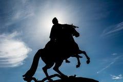 Bronsskickliga ryttaren, St Petersburg Royaltyfri Foto