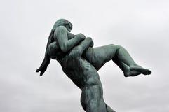 Bronsskulptur Arkivfoto