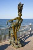 Bronsskulptur av en sjöjungfru  Royaltyfri Fotografi