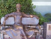 Bronsskulptur av Lucille Ball Arkivfoton