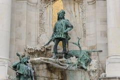 Bronsskulptur av Matthias Corvinus royaltyfria bilder
