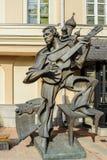 Bronsskulptur av skådespelaren, sångaren och poeten Vladimir Vysotsky Tsereteli författare royaltyfria foton