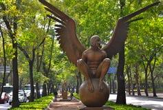 Bronsskulpturer av den moderna konstnären Jorge Marin i Mexico - stad Royaltyfria Foton