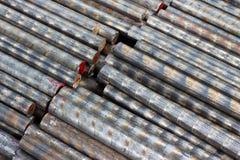 Bronsstångcloseup Arkivfoto