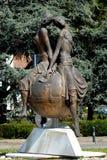 Bronsstandbeeld in Gepaste Carrare in de provincie van Padua in Veneto (Italië) Royalty-vrije Stock Afbeeldingen