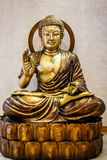 Bronsstandbeeld van Boedha Stock Afbeelding