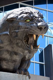 Bronsstandbeeld van Carolina Panthers Stock Fotografie