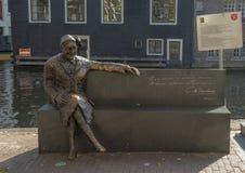 Bronsstandbeeld van Major Bosshardt, Amsterdam, Nederland royalty-vrije stock afbeeldingen