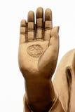 Bronsstatyer av den Sakyamuni Buddha Arkivfoton