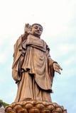 Bronsstatyer av den Sakyamuni Buddha Fotografering för Bildbyråer