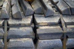 Bronstackor Fotografering för Bildbyråer